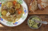くたくたスープとアボカドディップ - Nasukon Pantry