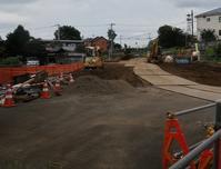 都市計画道路3・4・15の2号清瀬橋付近擁壁工事2020年9月 - ひのきよ