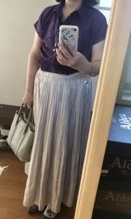 シャイニープリーツスカート - 着まわせない