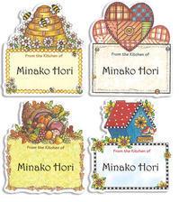 ミツバチは女の子 - アメリカ輸入のシール♪住所/名前/お好きな文字を印刷してお届け♪アドレスラベルです。