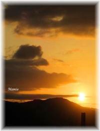 十月一日の日没・・・ - おだやかに たのしく Que Sera Sera