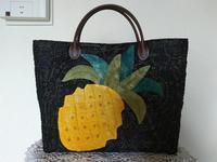 パイナップルのトートバッグ完成 - グランマの戯れ