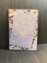 花束でできた風船の誕生日カード - 胡桃っ子の家