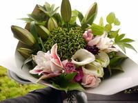 ダイヤモンド婚式(ご結婚60年)のお祝いに花束。「ゴージャスな感じ」。2020/09/28。 - 札幌 花屋 meLL flowers