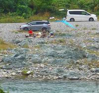 河原で遊ぶ人たちと北方謙三10月4日(日) - しんちゃんの七輪陶芸、12年の日常