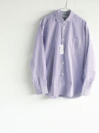 Sans limite BOX WIDE SPREAD COLLAR SHIRT - Purple Stripe - 『Bumpkins putting on airs』