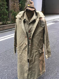 陸軍九八式下士官兵用雨外被・揃頭巾付。 - 軍隊屋「前さん」今日の一人言!