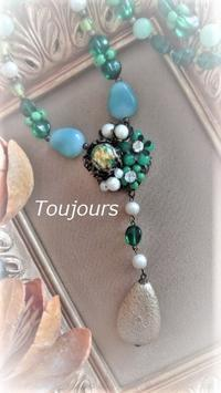 Y字ネックレス~グリーン~ - Bijoux  du  Bonheur ~ビジュー ドゥ ボヌール~