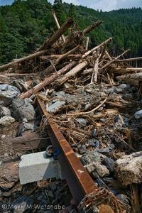 球磨川大水害-行徳谷橋梁と葉木トンネル - Mark.M.Watanabeの熊本撮影紀行
