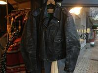 50's Hercules horsehide motorcycle jacket - BUTTON UP clothing