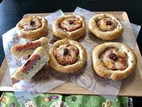 『花ソーセージパン』 - カフェ気分なパン教室  *・゜゚・*ローズのマリ
