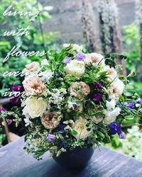 『IVORY 花教室 10 October 開催です~♬』 -  Flower and cafe 花空間 ivory (アイボリー)