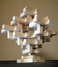 建築三昧 「杉材をつかった木工」成果品第五号 発展型 「オブジェ」 - 設計事務所 arkilab