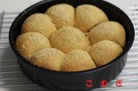 きな粉のちぎりパン - パン・お菓子教室 「こ む ぎ」