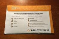 郵便投票用紙が届く - アバウトな情報科学博士のアメリカ