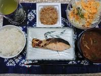 10/9 時鮭中辛塩焼納豆定食@自宅 - 無駄遣いな日々