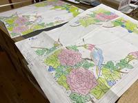 薔薇のパネル作業開始 - ステンドグラスルーチェの日常