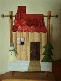今年のクリスマス小物 - 猫がキルトで寝てる間に