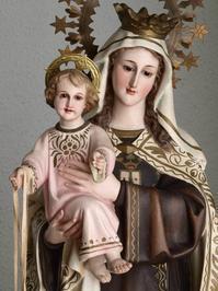 茶色のスカプラリオ カルメル山の聖母子像  /H257 - Glicinia 古道具店