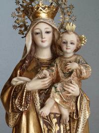 茶色のスカプラリオ カルメル山の聖母子像 46.8cm /H241 - Glicinia 古道具店