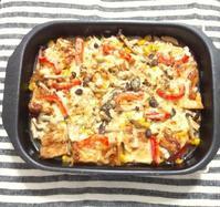 厚揚げとキノコの、味噌チーズ焼き - Minha Praia