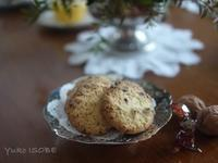 Orange biscuits with chocolate - お茶をどうぞ♪