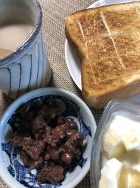 朝食の風景 - 今日もひとつだけ