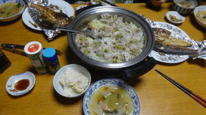 栗ご飯と冬瓜と栗の渋皮煮 -