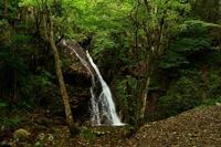 古屋不動滝真庭市 - 大山山麓、山、滝、鉄道風景
