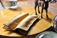 やみつきエルクの2本差しペンケース(レモンドロップ)・時を刻む革小物Many CHOICE - 時を刻む革小物 Many CHOICE~ 使い手と共に生きるタンニン鞣しの革