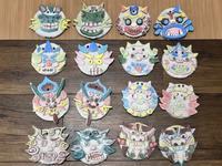 稲沢教室のコロナ除けシーサー。乾燥 - 大﨑造形絵画教室のブログ
