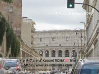 「ローマ街中の風景♪」 ~ コロッセオを狙う「からす座」と、ハロウィン🎃ディスプレー ~ - 『ROMA』ローマ在住 ベンチヴェンガKasumiROMAの「ふぉとぶろぐ♪ 」