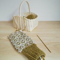 新しいデザインのミト... - *編み物のある生活 tsukurimono*