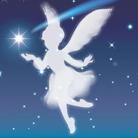 妖精のシルエット - デザインのアトリエ絵くぼ