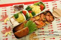 ナポリライス洋風弁当&焼きそば&琵琶湖の夕陽 - おばちゃんとこのフーフー(夫婦)ごはん