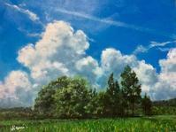 風景画にサインが入りました(雲あり)&イノシシ被害&楽しいお家時間 - ポッと出っスけど杉山ひとみ/水彩画ブログ