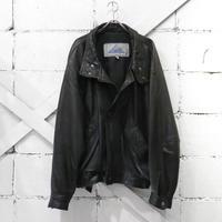 黒のレザージャケット - the poem clothing store