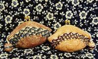 秋色財布できました♪ - ルーマニアン・マクラメに魅せられて