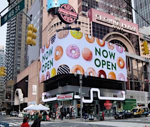 クリスピー・クリームの「ホット・ライト」(Hot Light)点灯中は、できたてのドーナツを食べられます - ニューヨークの遊び方