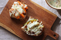 カボチャとニンジンのトースト - Nasukon Pantry