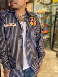 """NORTH NO NAME """"WOLVES STRIPE WORK SHIRT"""" - ★ GOODY GOODY ★  -  ROCK'N ROLL SHOP"""
