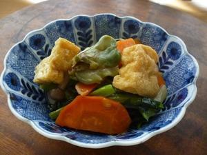 ザーサイと野菜の炒め物 -