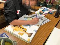 一宮教室、一般コース中学生。魚を描く - 大﨑造形絵画教室のブログ