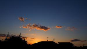 15日の夕焼け空 -