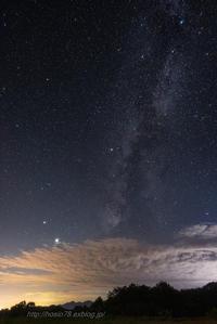 雲に吸い込まれる銀河 - デジタルで見ていた風景
