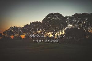 暮れゆく秋の日。 - ~風紋~徒然歳時記