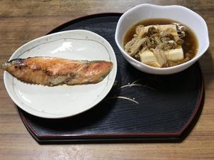 焼き魚&あんかけ豆腐 - 老老介護で奮闘中