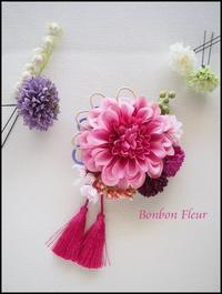 セミオーダー七五三の髪飾り(3歳) - Bonbon Fleur ~ Jours heureux  コサージュ&和装髪飾りボンボン・フルール