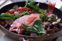羅臼の赤魚で「アクアパッツァ」しました! - 登志子のキッチン