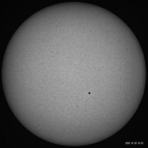 10月20日の太陽 - お手軽天体写真